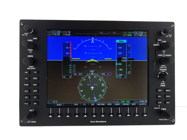 Picture of Nuna Simulations G1000 PFD Panel