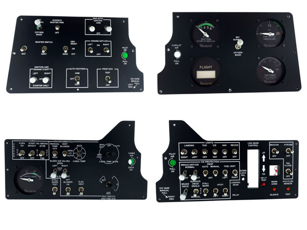 Picture of Nuna Simulations King Air Sub Panel Set