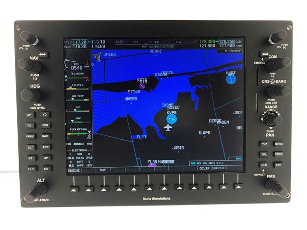 Picture of Nuna Simulations G1000 MFD Panel